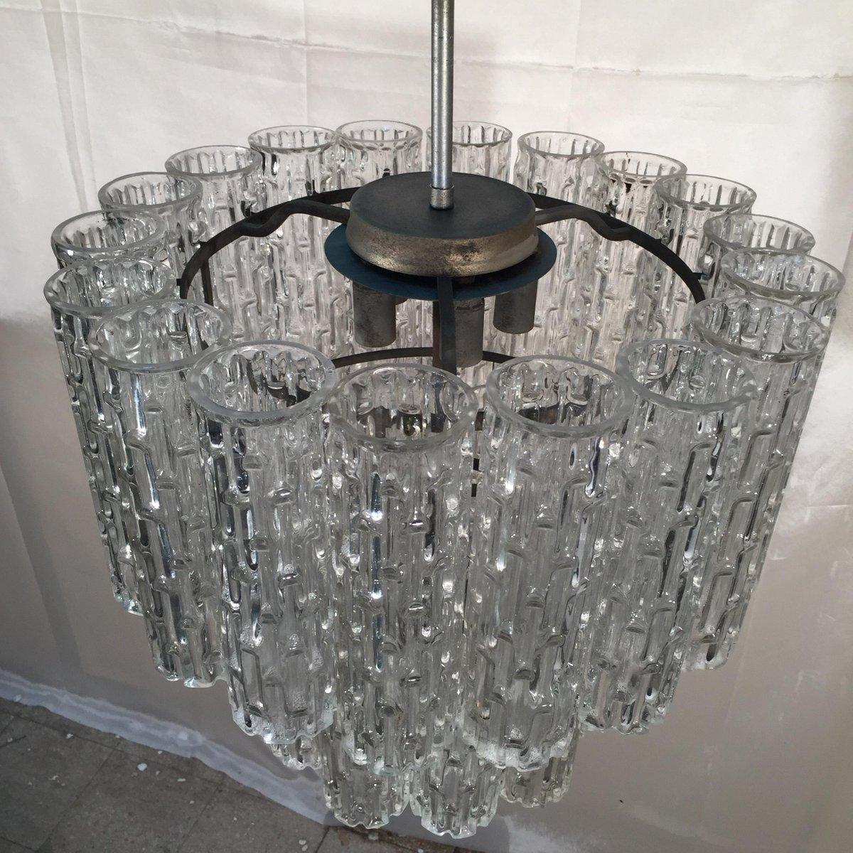 lustre vintage en verre cristal murano en vente sur pamono. Black Bedroom Furniture Sets. Home Design Ideas