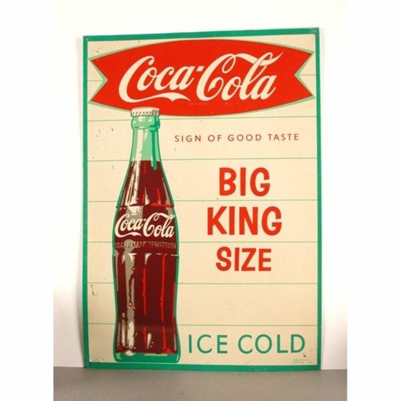 vintage coca cola werbeschild 1960er bei pamono kaufen. Black Bedroom Furniture Sets. Home Design Ideas