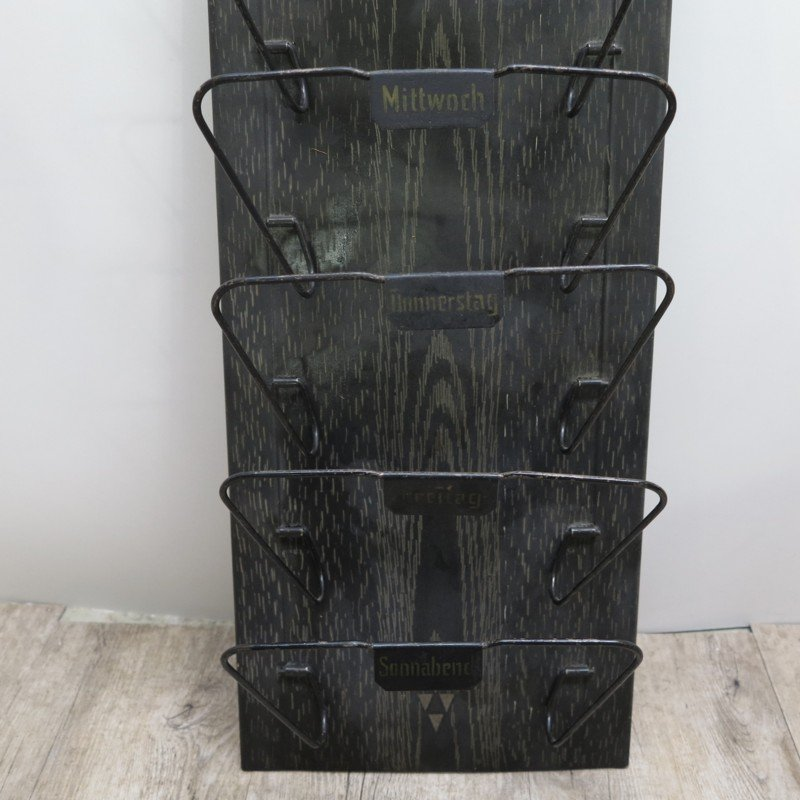 Art Deco German Metal Newspaper And Letter Rack 1930s For