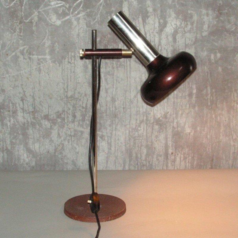 Verstellbare Deutsche Vintage Tischlampe von IWC, 1970er