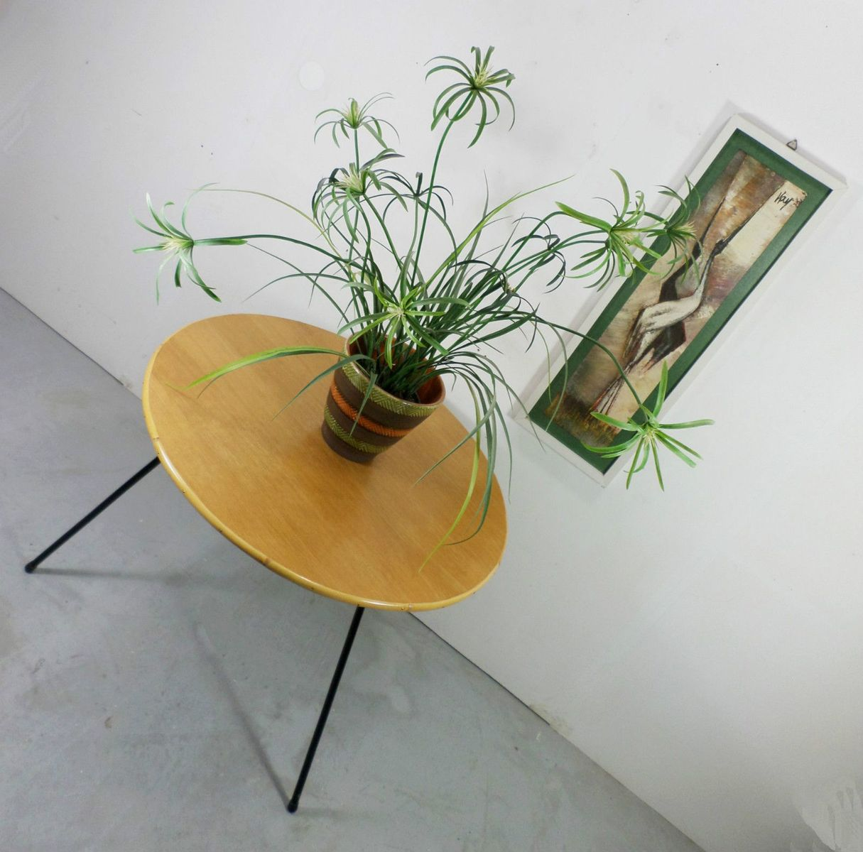 Deutscher couchtisch aus eiche bambus metall 1950er - Couchtisch bambus ...