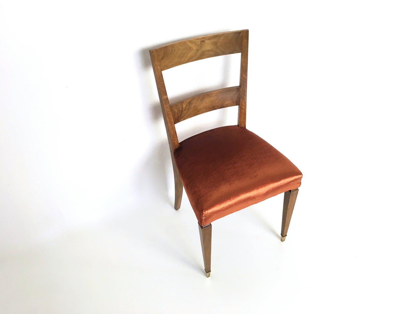 vintage nussholz esszimmerst hle 10er set bei pamono kaufen. Black Bedroom Furniture Sets. Home Design Ideas
