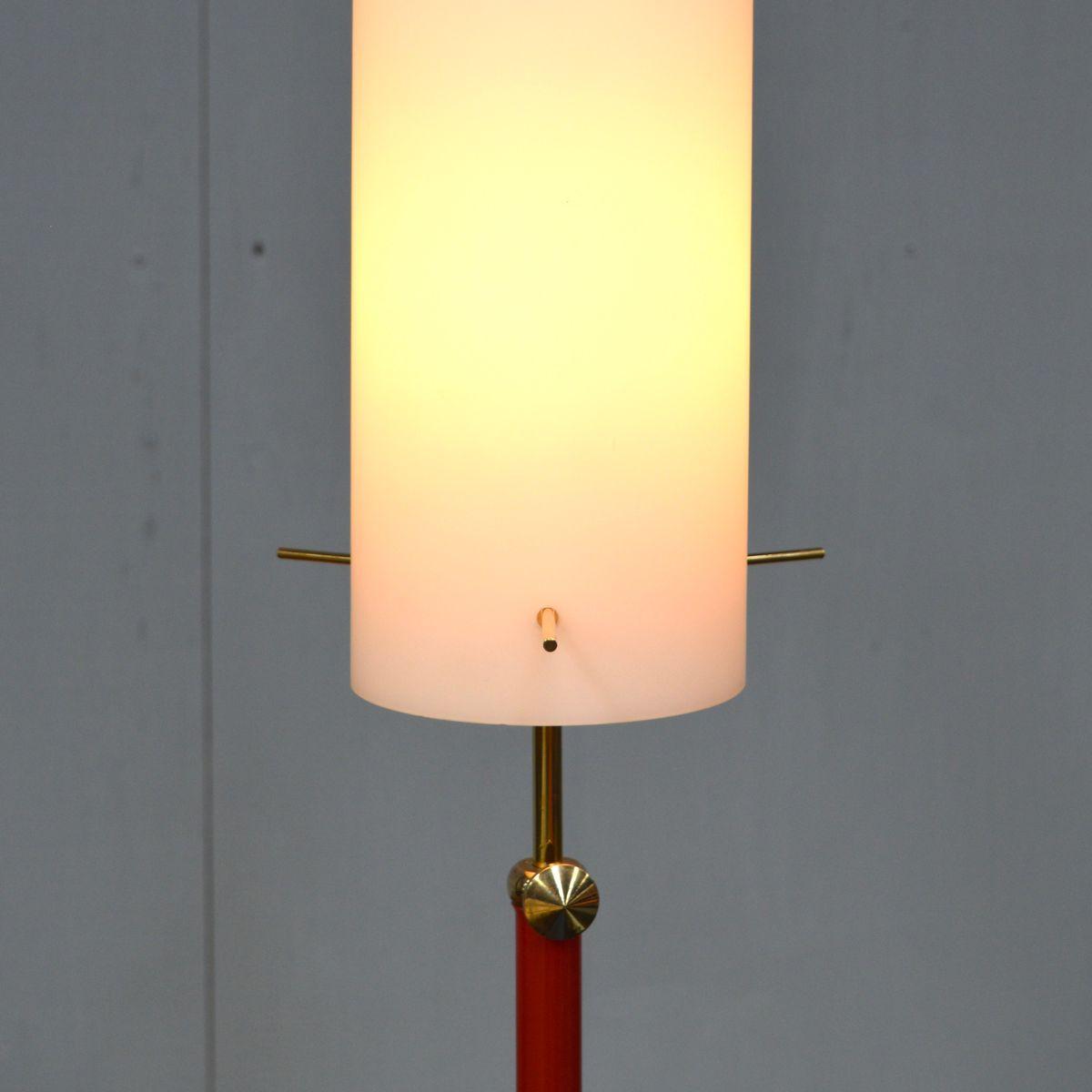 italienische opalglas stehlampe 1950er bei pamono kaufen. Black Bedroom Furniture Sets. Home Design Ideas