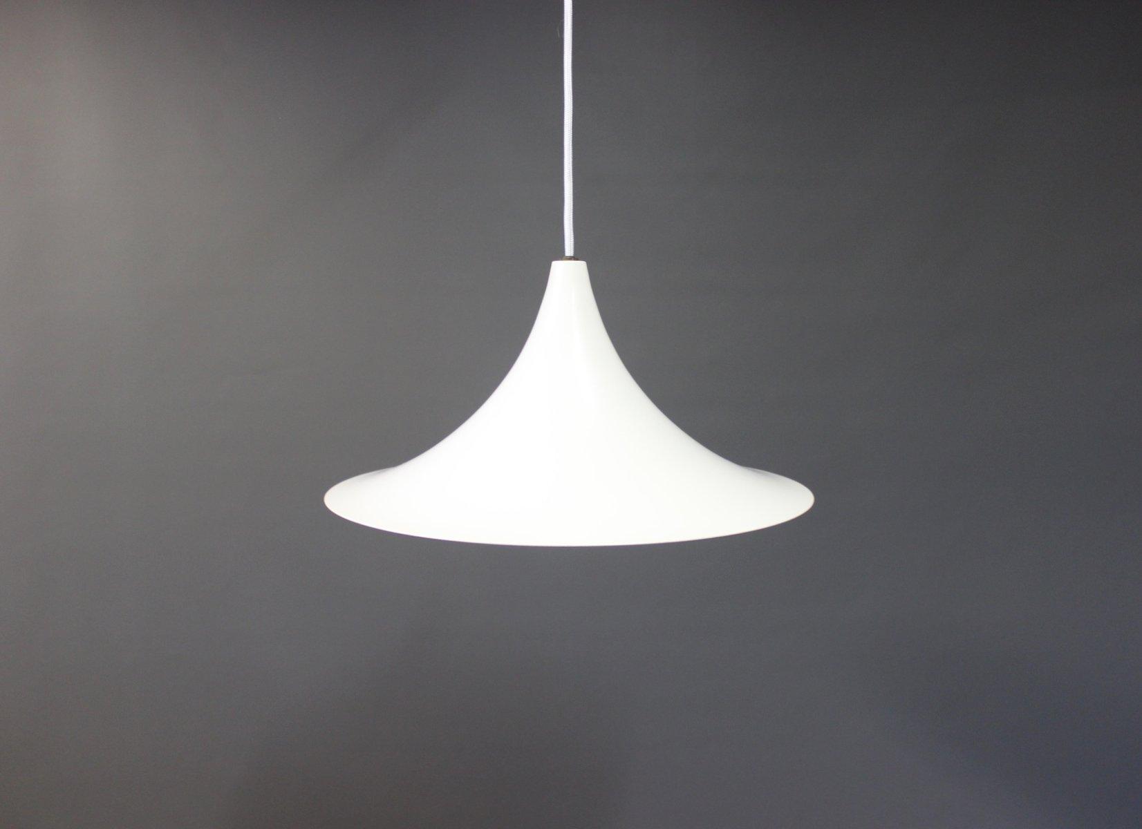 Dänische Weiße Trompeten Lampe von Fog and Mørup, 1960er
