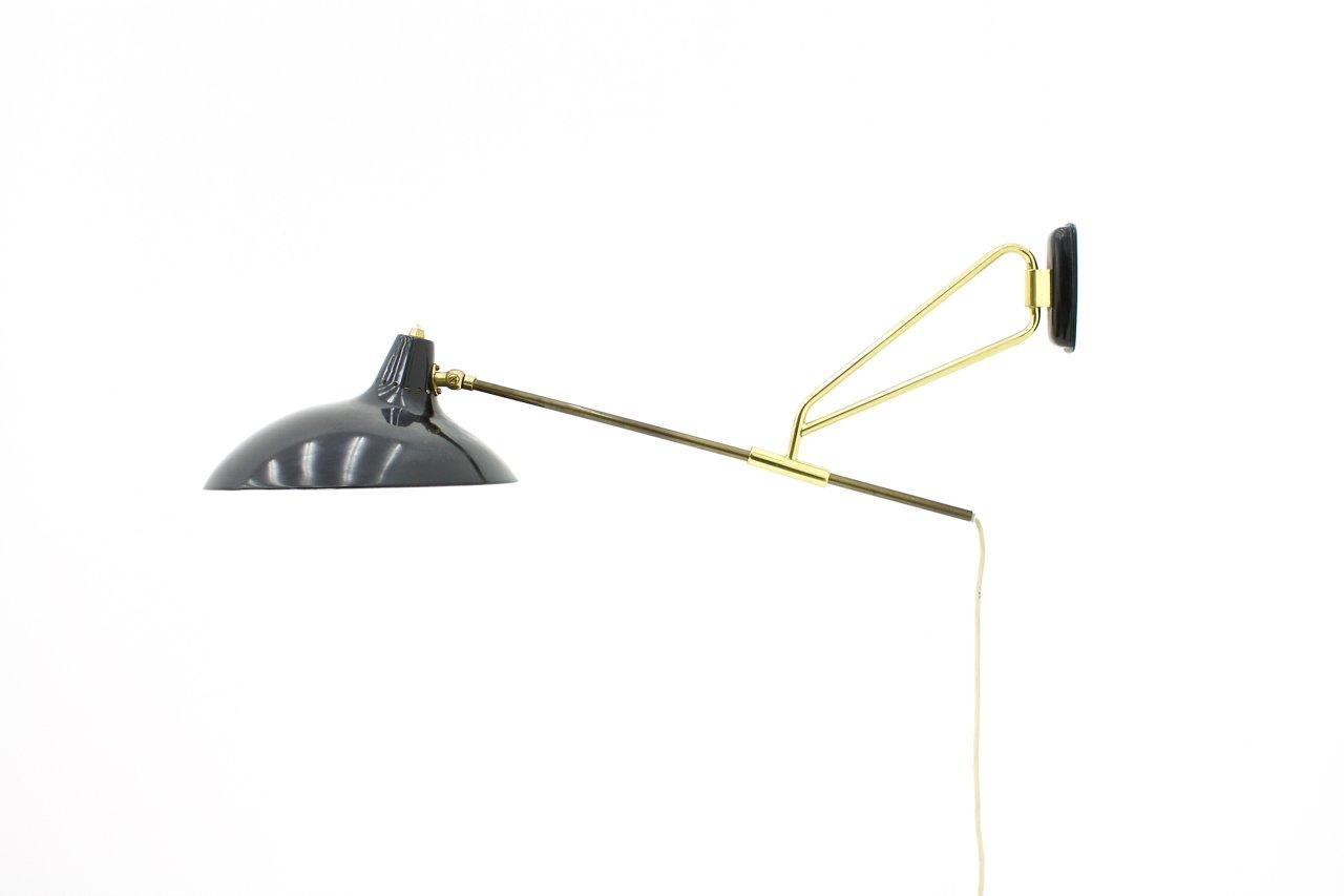 Wandlampe von Christian Dell für Kaiser Idell, 1950er