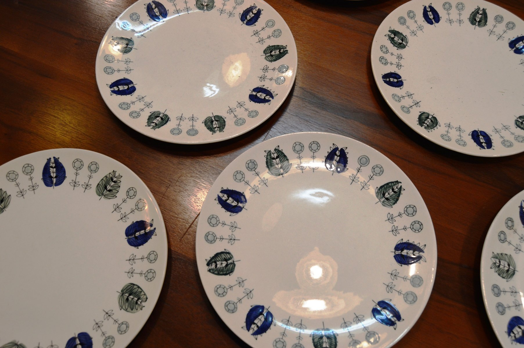 Norwegian Plates From Egersun 1950s Set Of 6 For Sale At