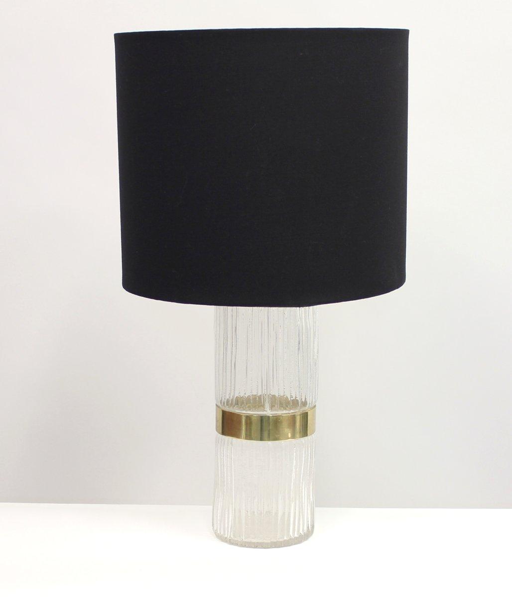 Schwedische Tischlampe aus Messing & Pressglas, 1960er
