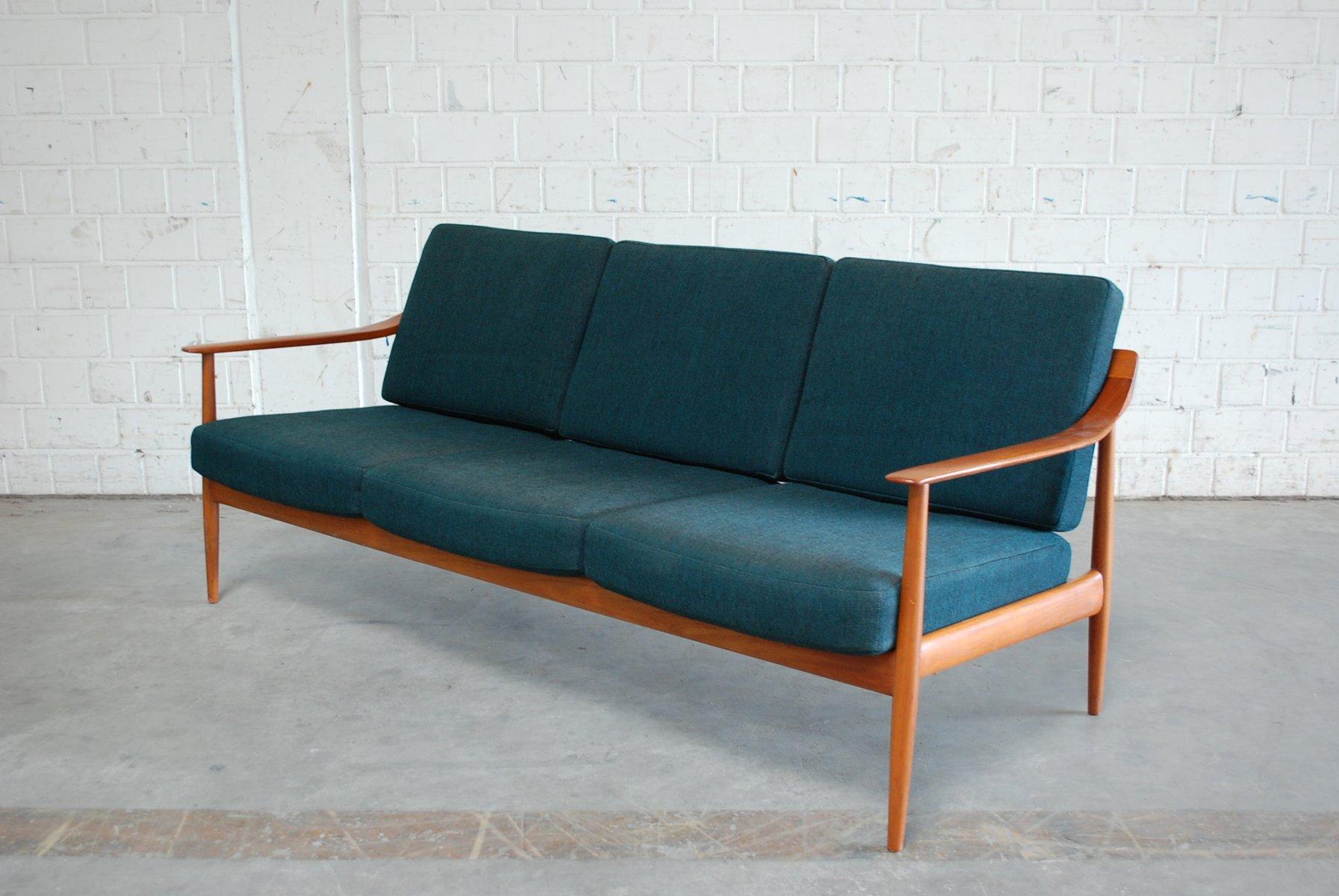 blaues teak sofa von knoll 1960er bei pamono kaufen. Black Bedroom Furniture Sets. Home Design Ideas