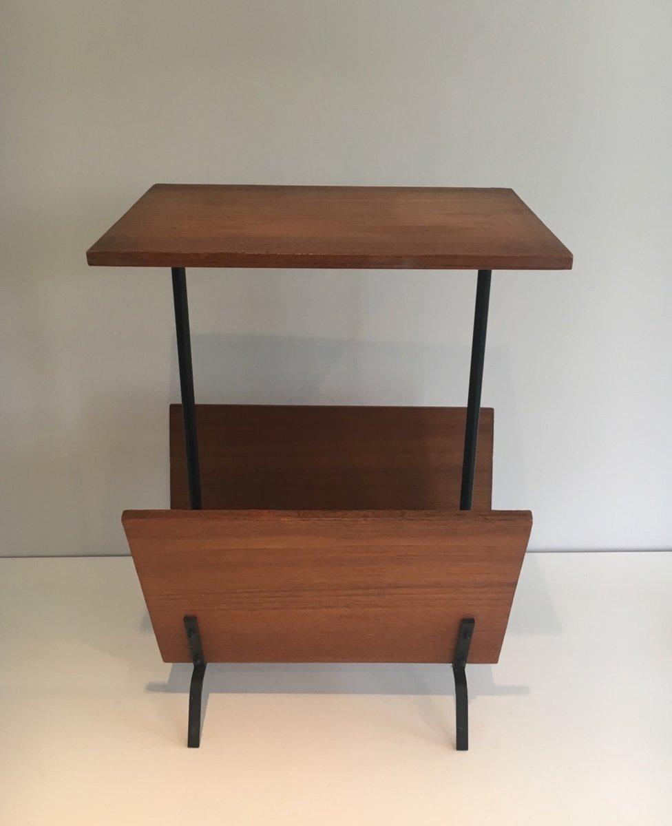 table d 39 appoint vintage avec porte revues 1950s en vente sur pamono. Black Bedroom Furniture Sets. Home Design Ideas