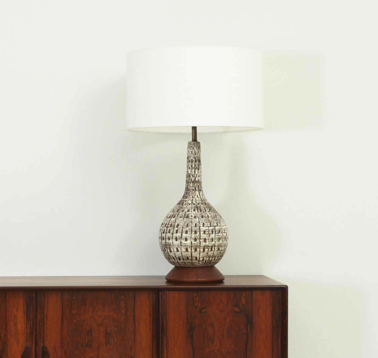 Mid Century Large American Glazed Ceramic Table Lamp