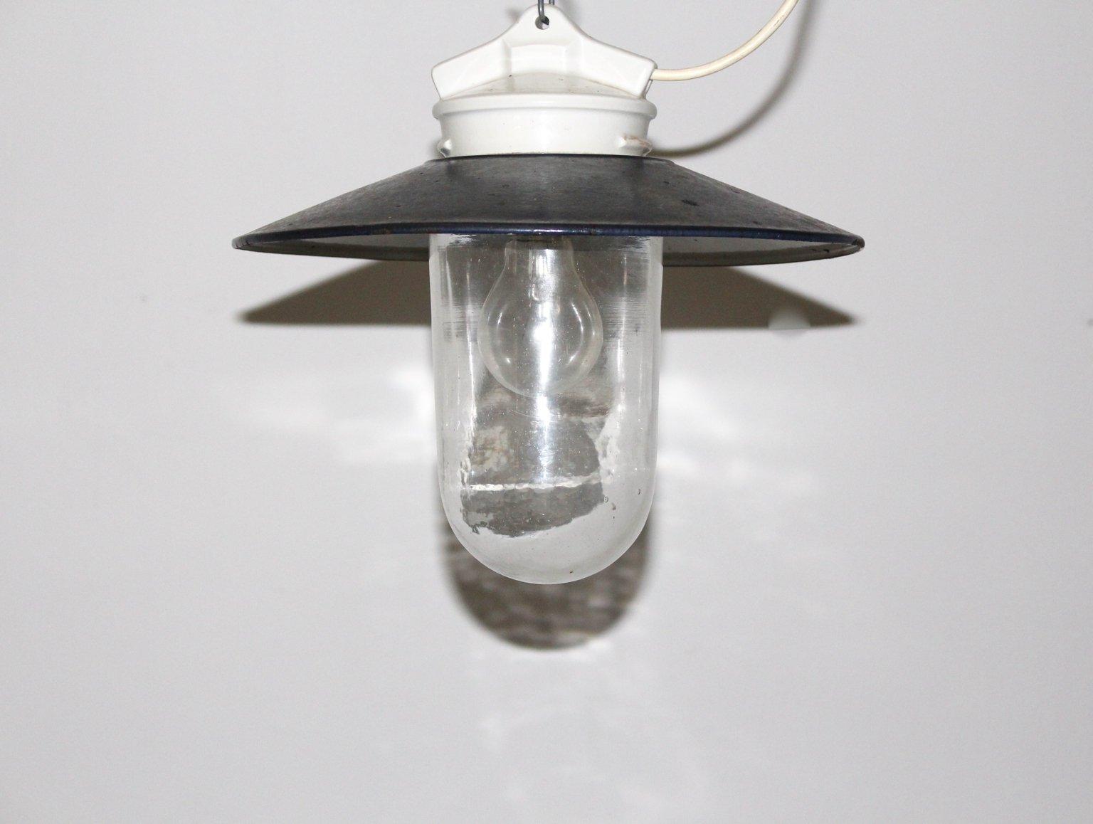 Industrielle Deckenlampe, 1960er