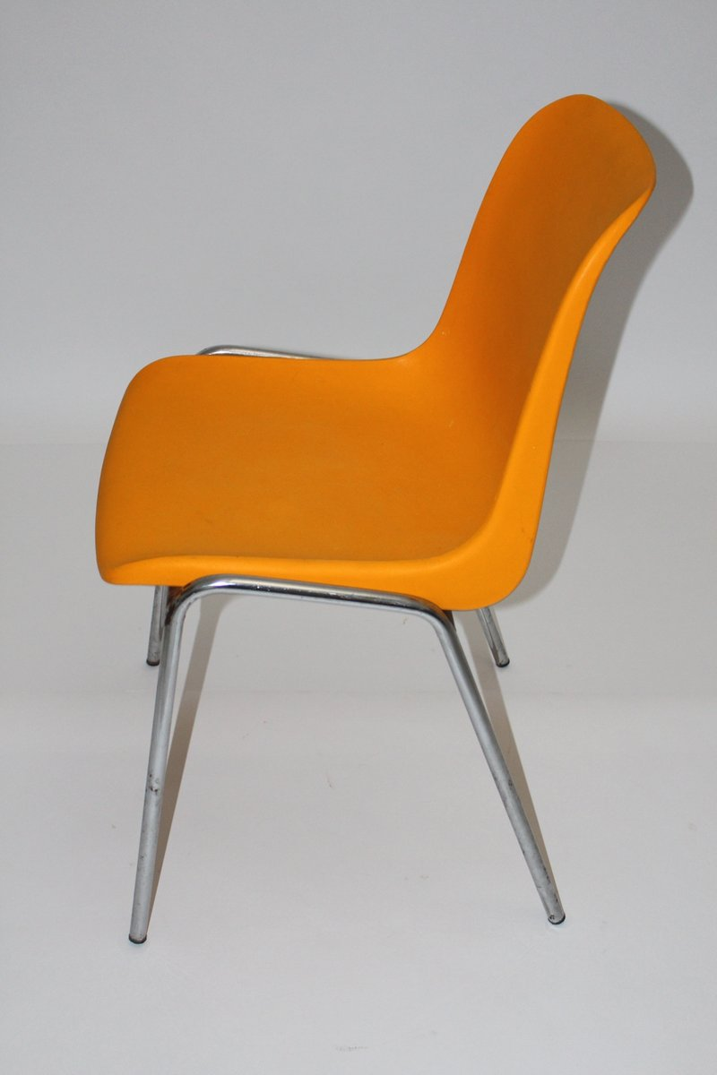 chaise d 39 appoint vintage orange 1970s en vente sur pamono. Black Bedroom Furniture Sets. Home Design Ideas
