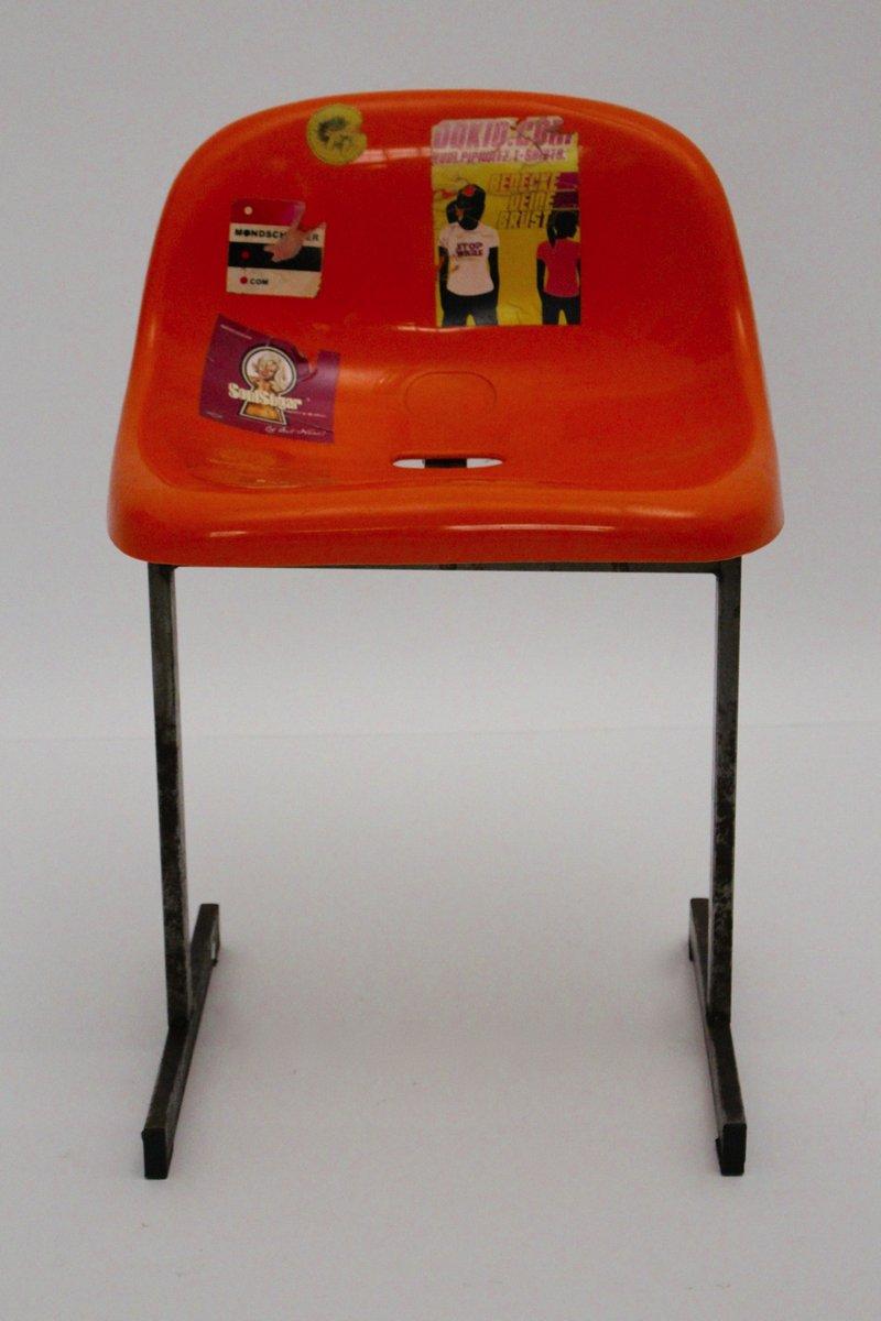 Sedia da stadio arancione anni 39 70 in vendita su pamono for Sedia design anni 70