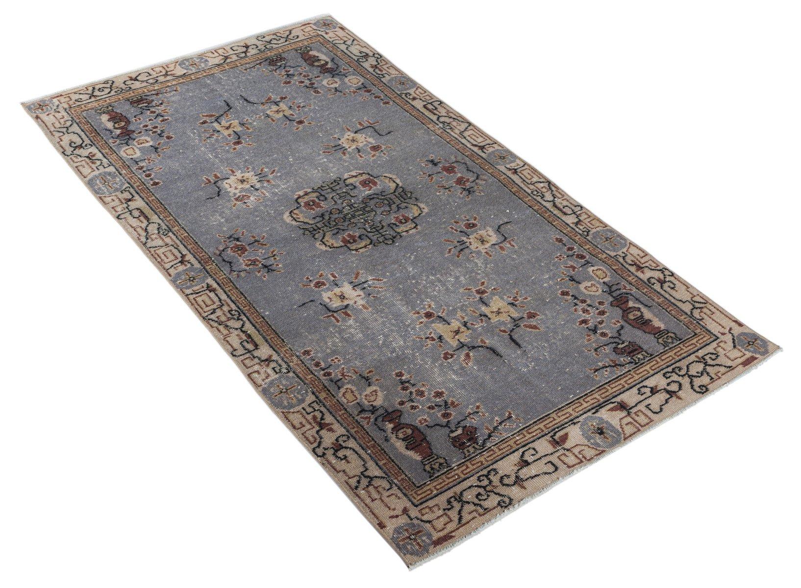 tapis bleu surteint turquie en vente sur pamono. Black Bedroom Furniture Sets. Home Design Ideas