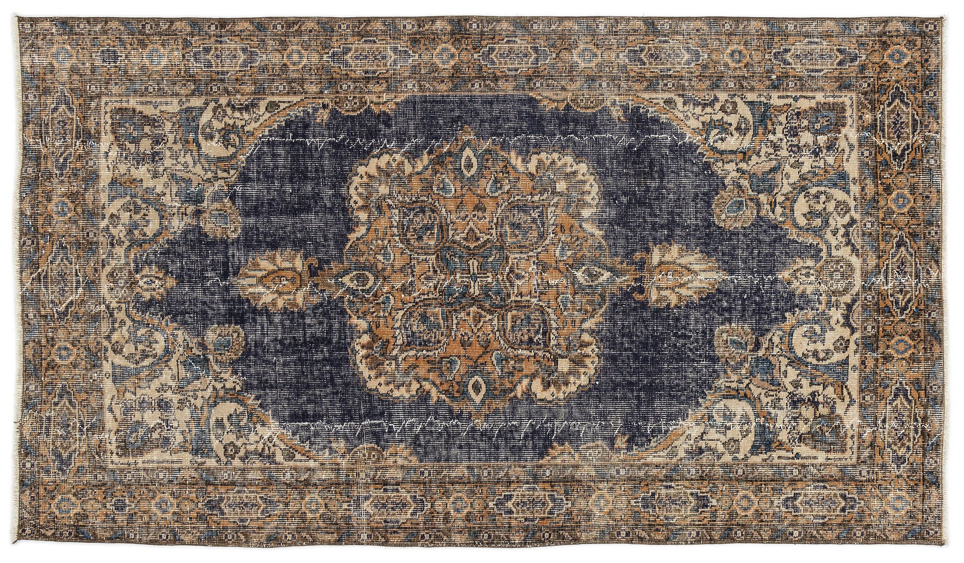Vintage Overdyed Turkish Rug 1960s