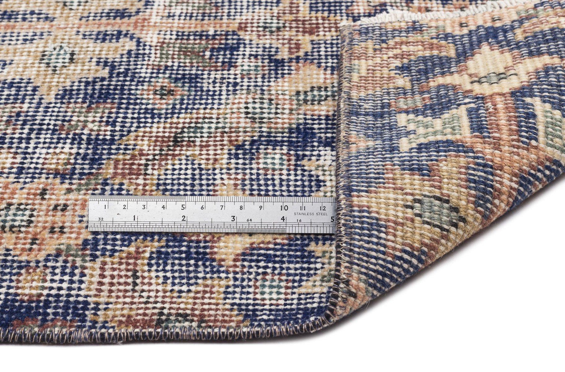 berf rbter teppich in blau blau braun 1960er bei pamono kaufen. Black Bedroom Furniture Sets. Home Design Ideas