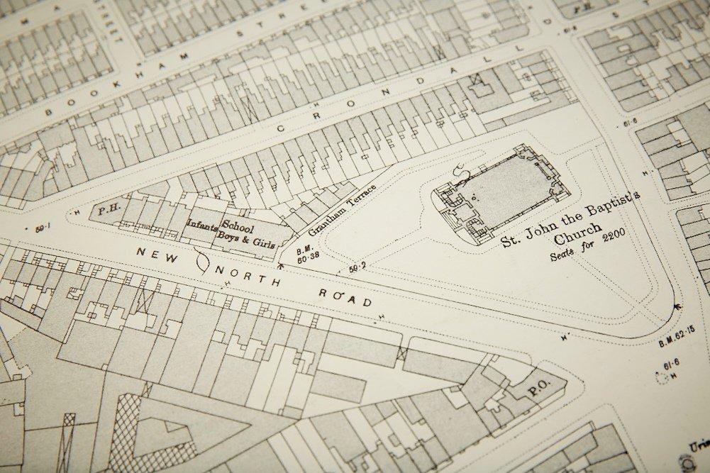 Vintage London Hoxton Ordnance Survey Map For Sale At Pamono