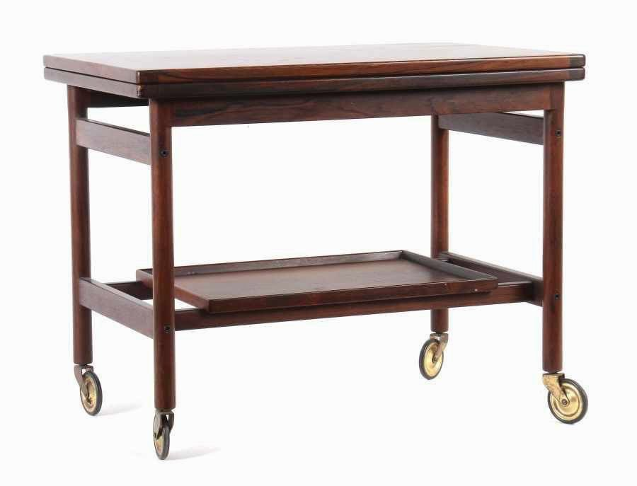 Mid Century Danish Rosewood Bar Trolley Table By Kurt Ostervig For Jason  Møbler