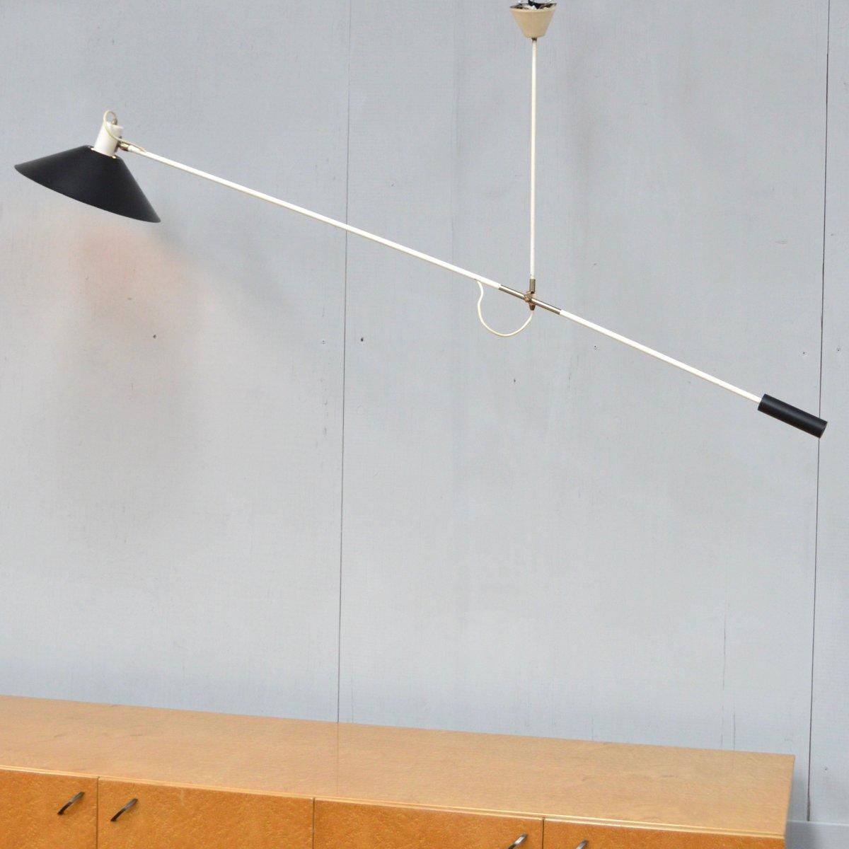 Deckenlampe mit Gegengewicht von J.J.M. Hoogervorst für ANVIA, 1960er