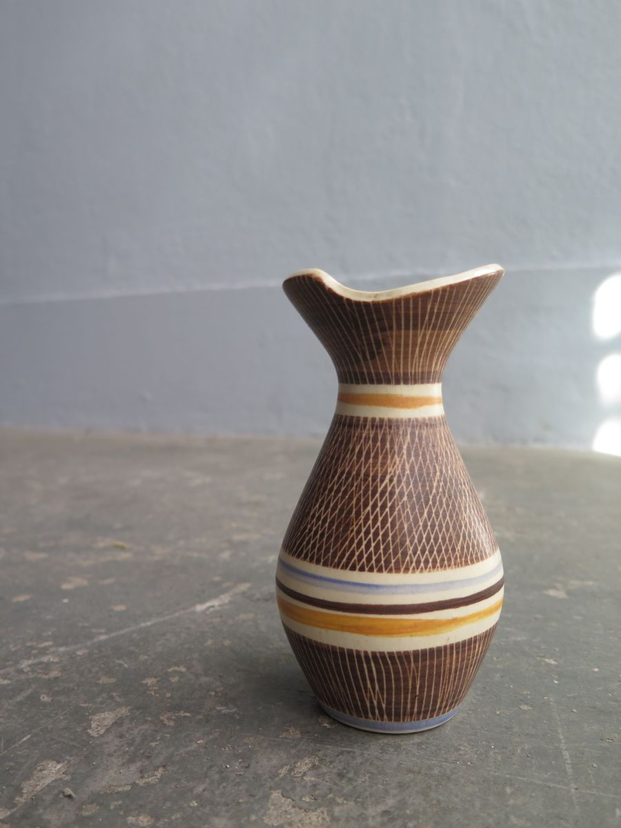 organische deutsche keramik vase 1960er bei pamono kaufen. Black Bedroom Furniture Sets. Home Design Ideas