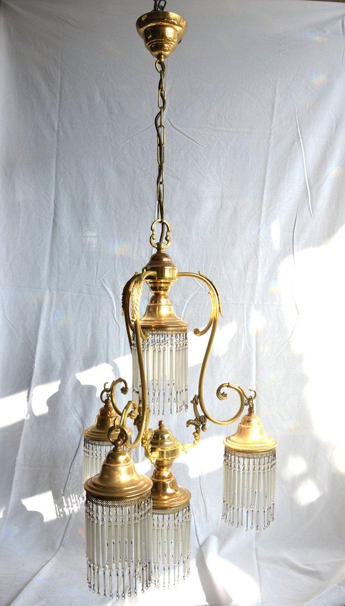 Italienische Goldene Vintage Hängelampe