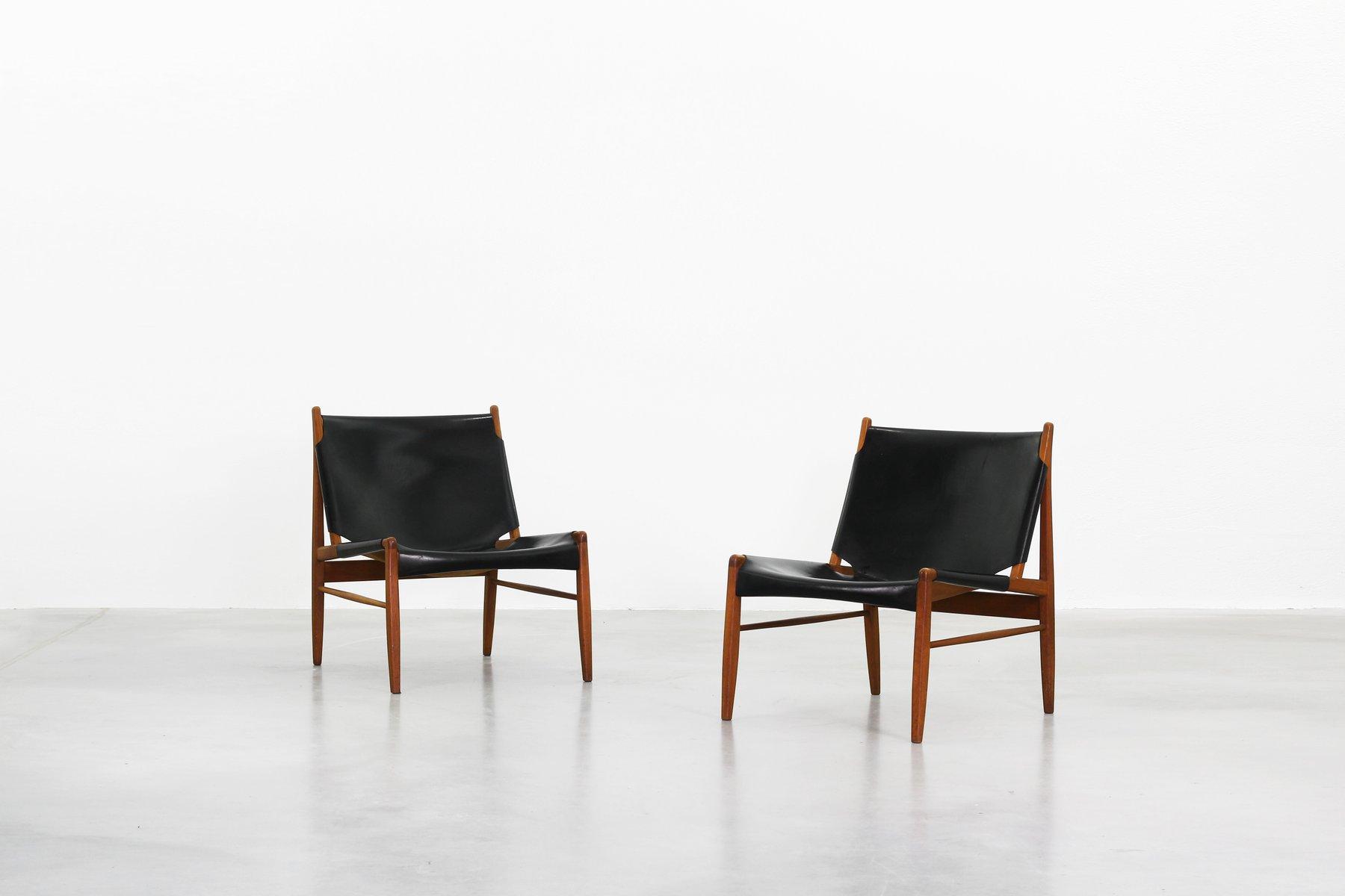Stühle mit Ledersitzen von Franz Xaver Lutz für WK Mo?bel, 1958, 2er S...