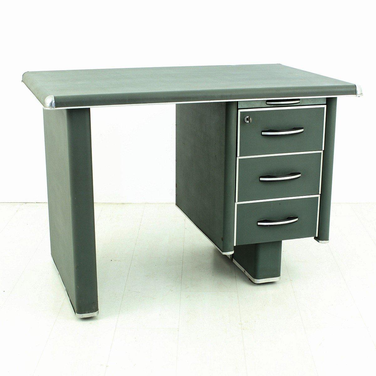 vintage metall schreibtisch 1950er bei pamono kaufen. Black Bedroom Furniture Sets. Home Design Ideas