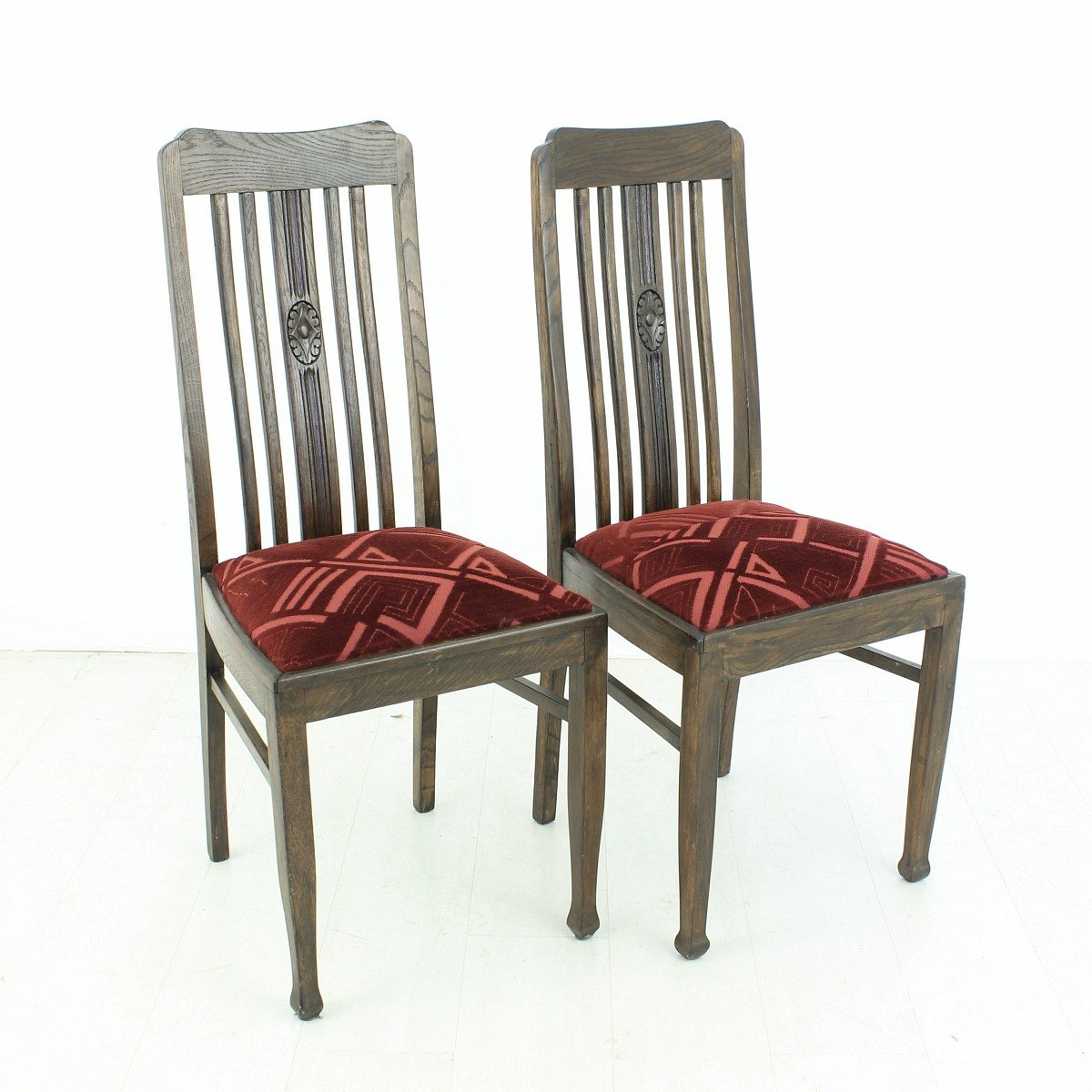 Vintage Oak Dining Chairs 1920s Set Of 2 Holiday