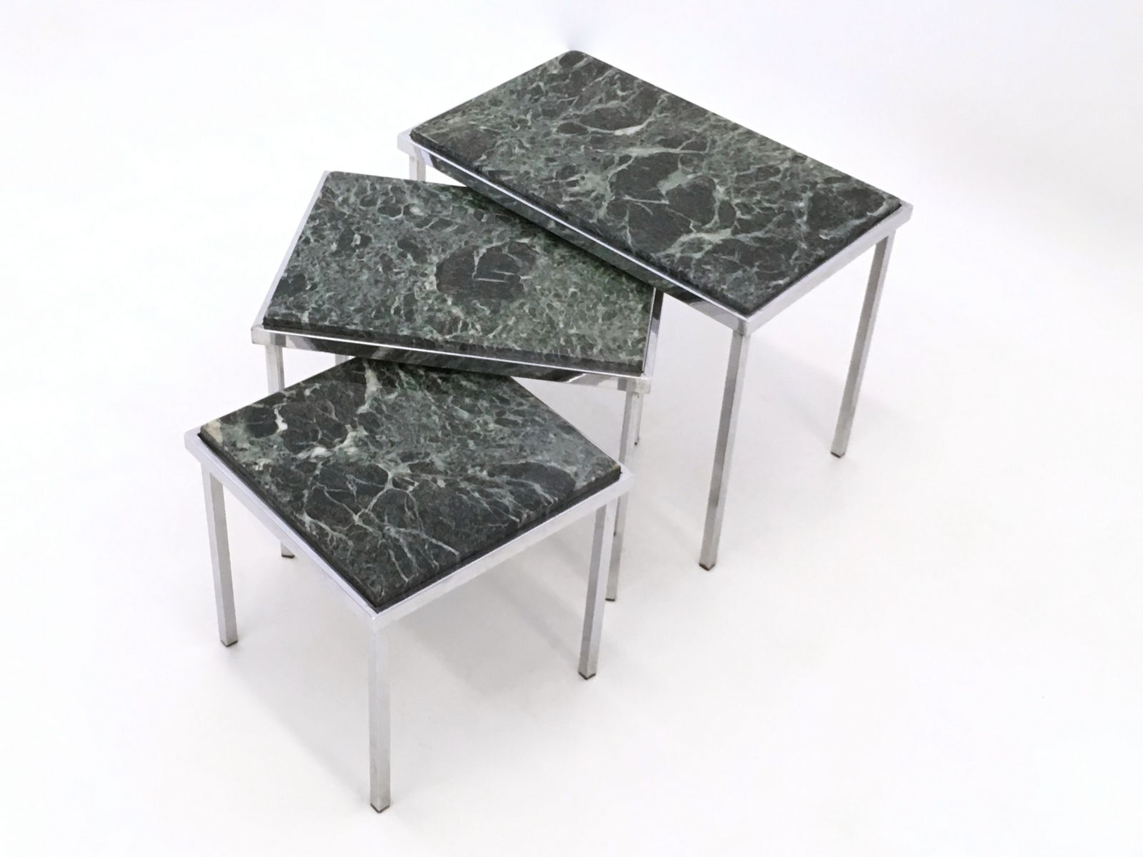 Green Alps Marble Nesting Tables 1970s For Sale At Pamono