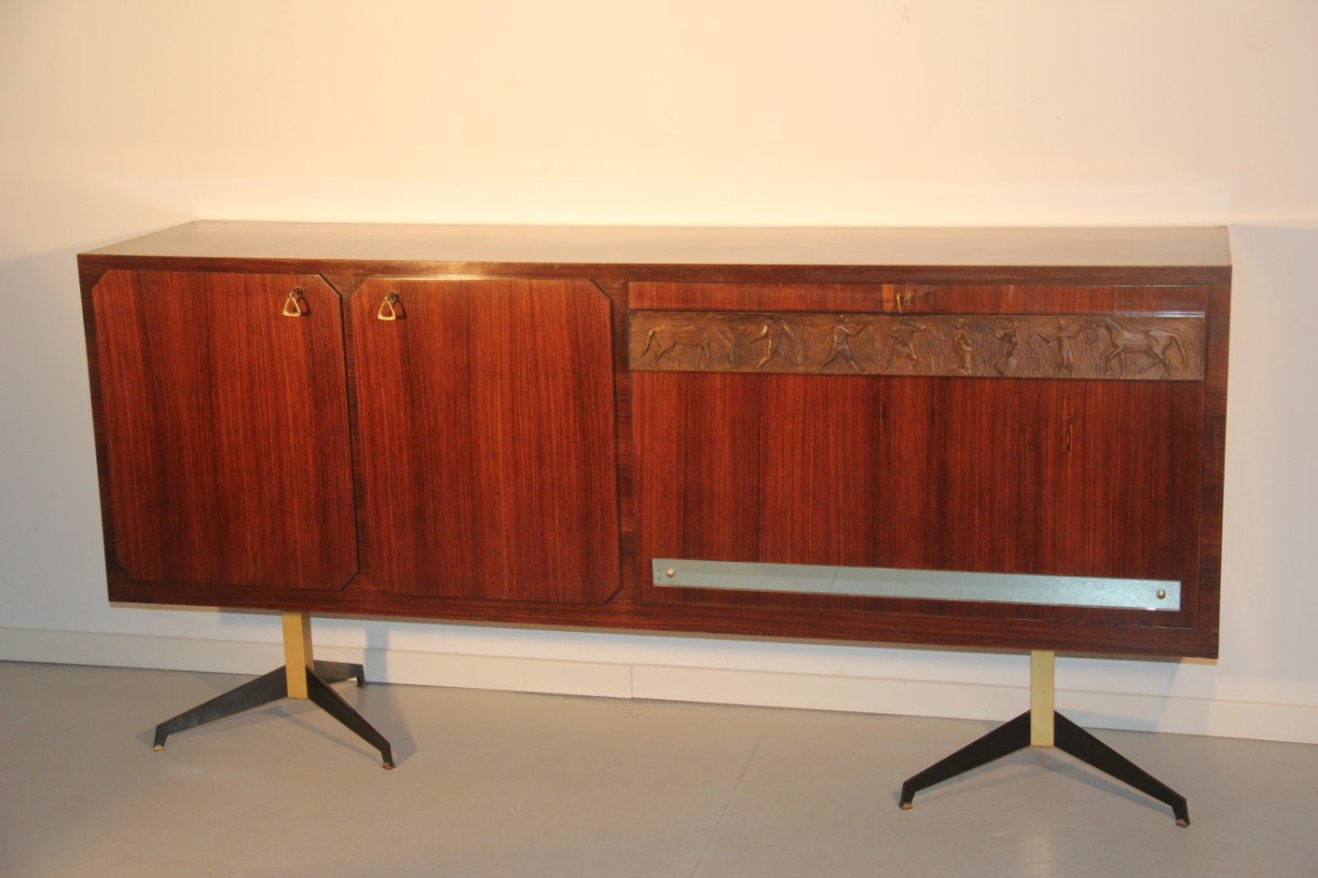 Italienisches Palisander Sideboard mit Barfach