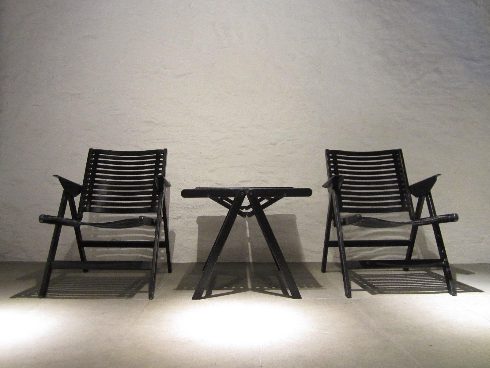 Vintage Rex Stühle & Couchtisch von Niko Kralj für Stol Kamnik