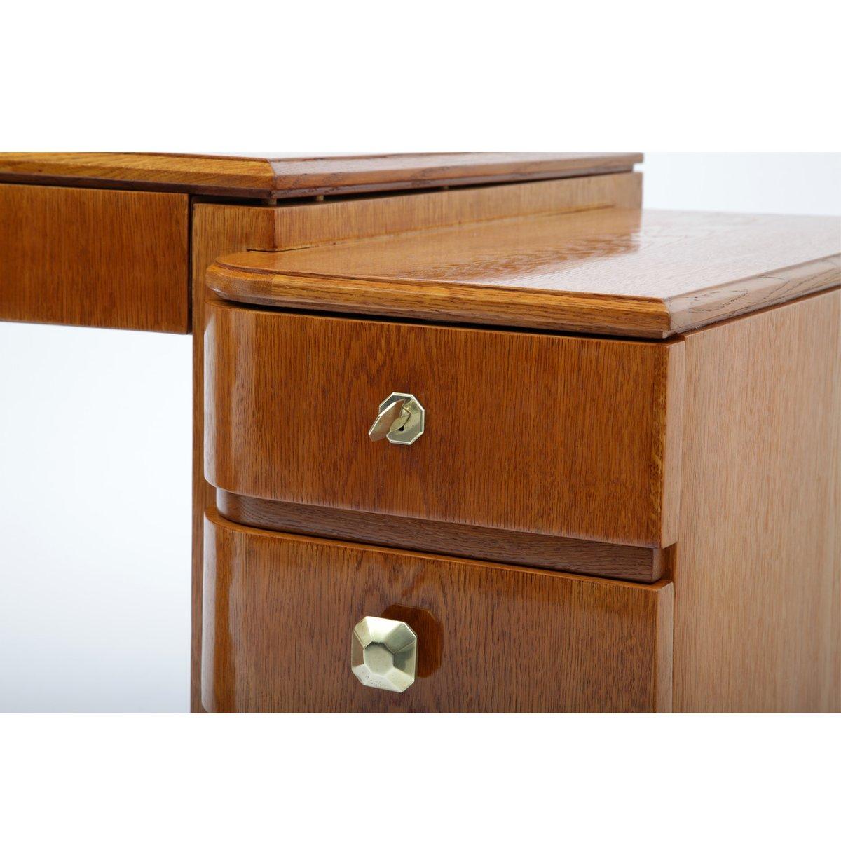 geschwungener franz sischer art deco schreibtisch 1930er. Black Bedroom Furniture Sets. Home Design Ideas