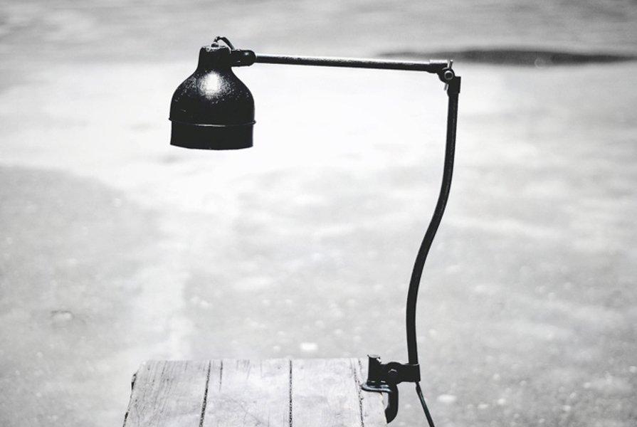 Polnische Industrielle Architektenlampe, 1930er