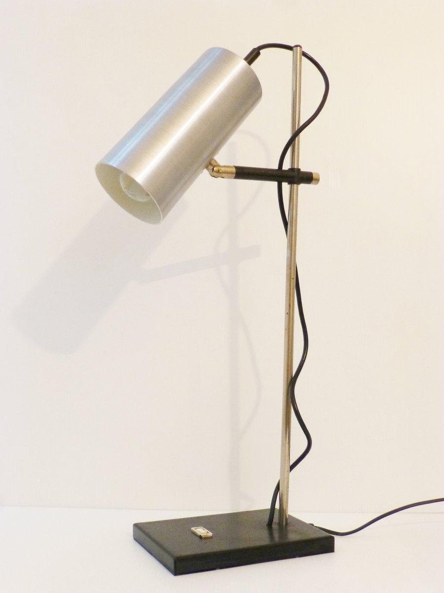 Vintage Tischlampe aus Gebürstetem Aluminium, 1970er