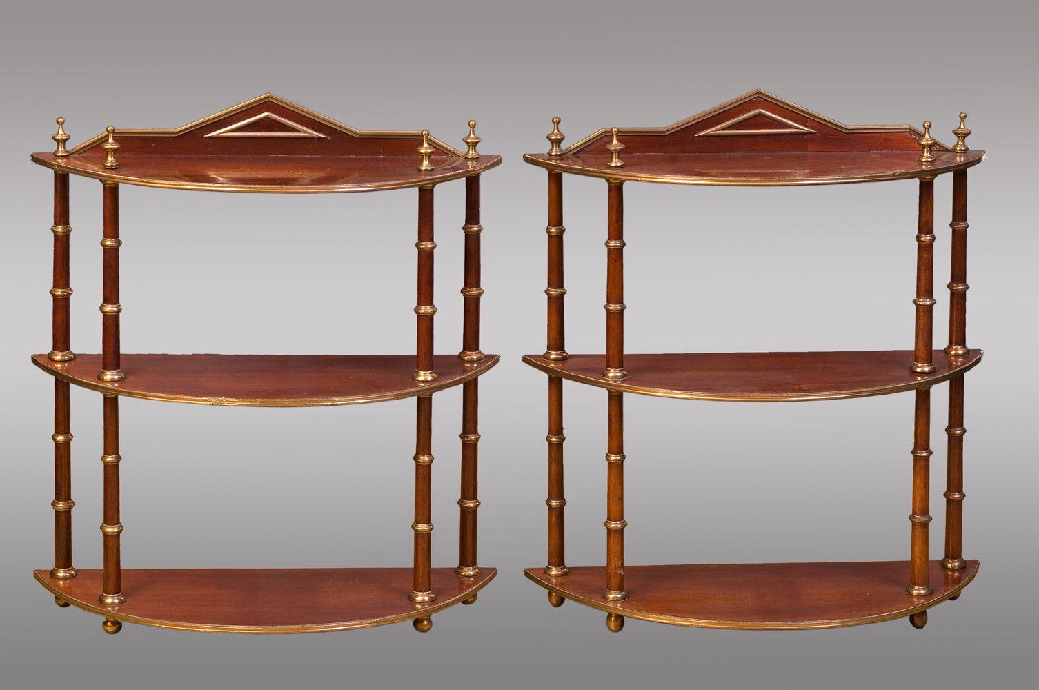 etagères suspendues baltic antiques, set de 2 en vente sur pamono