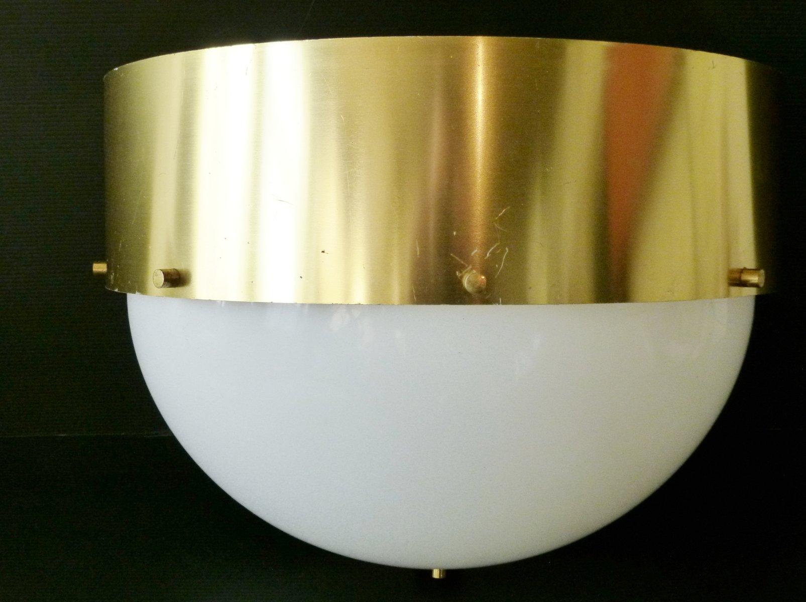 Vintage Plexiglas & Aluminium Wandlampe, 1960er