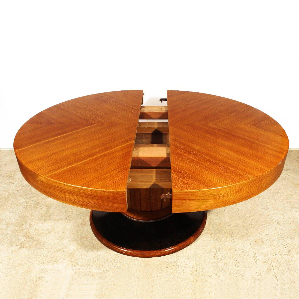 gro er runder spanischer art deco tisch 1930er bei pamono kaufen. Black Bedroom Furniture Sets. Home Design Ideas