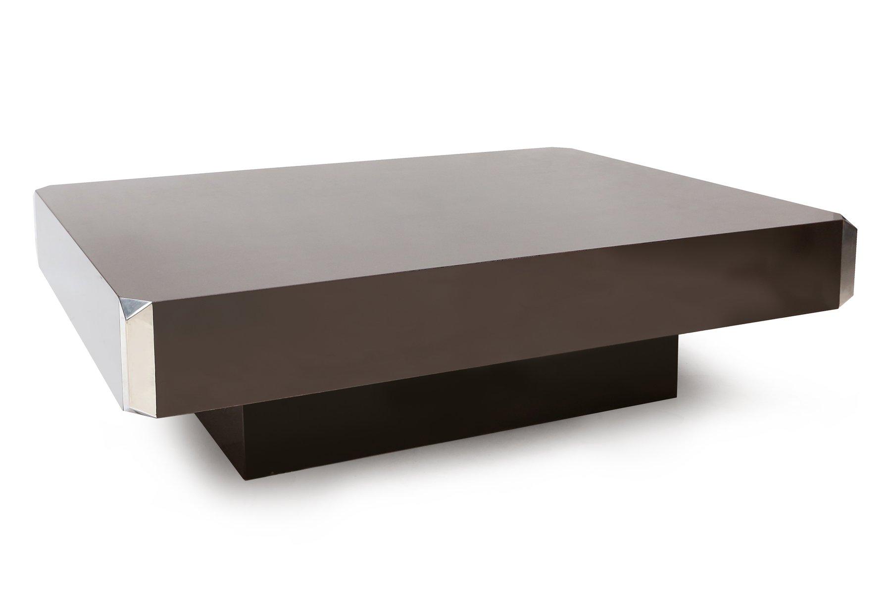 table basse par willy rizzo france 1970s en vente sur pamono. Black Bedroom Furniture Sets. Home Design Ideas