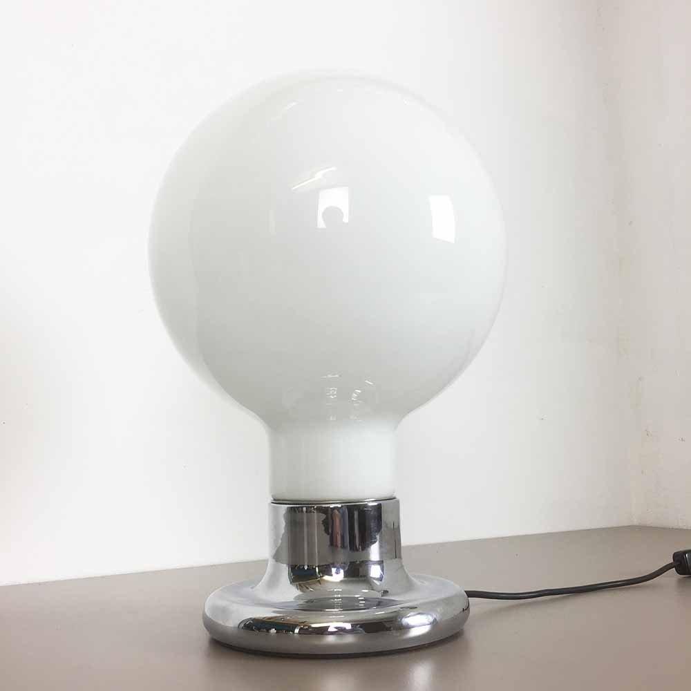 Tischlampe mit Glas Lampenschirm von Cosack, 1970er
