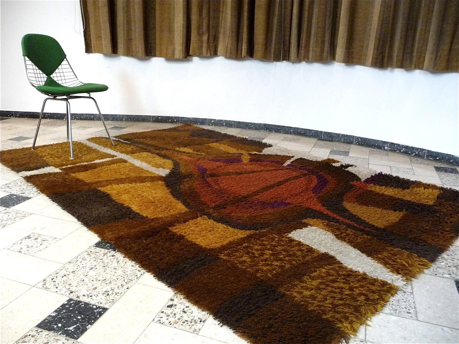gro er abstrakter d nischer teppich von ege rya 1960er. Black Bedroom Furniture Sets. Home Design Ideas
