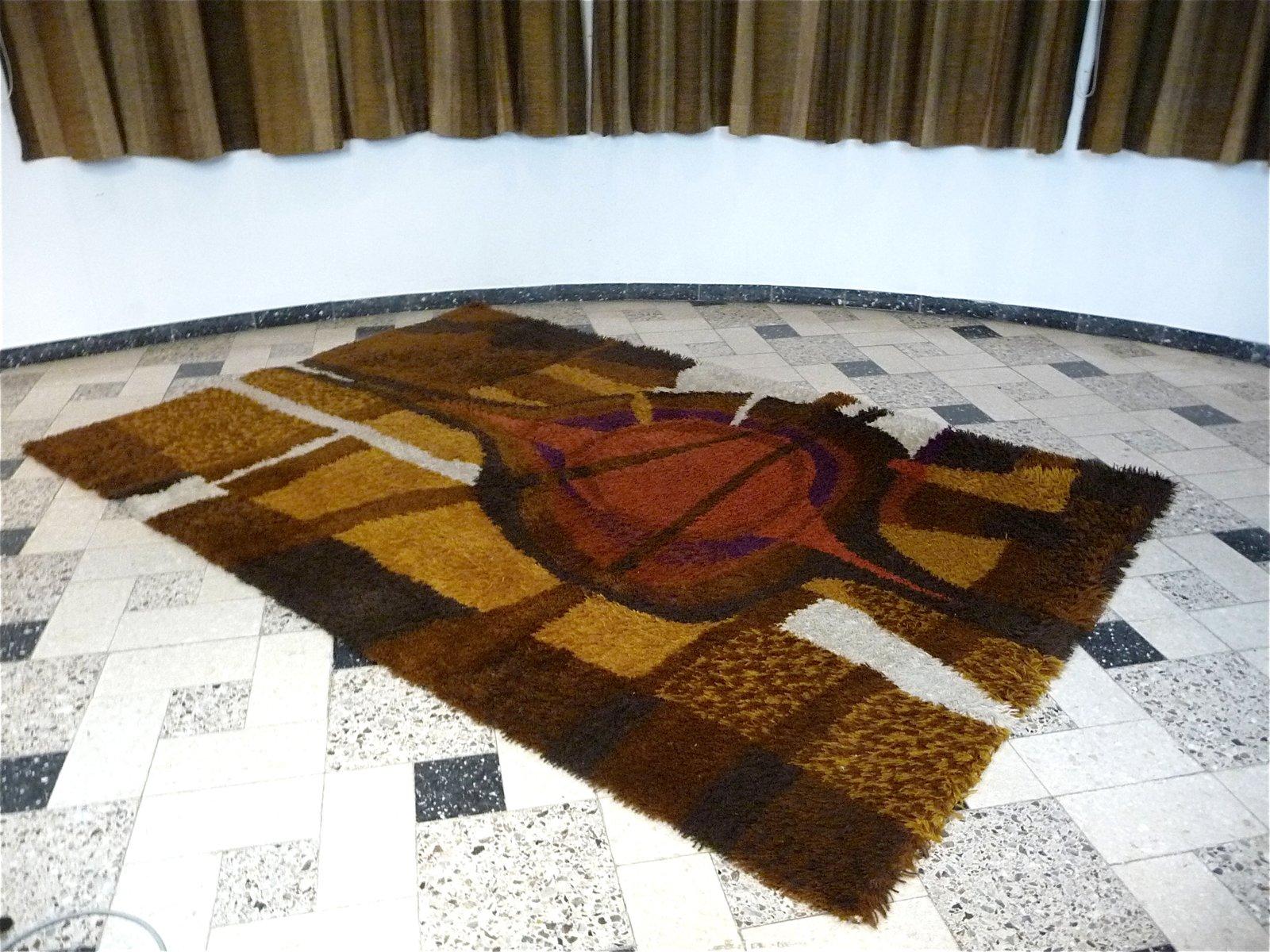 gro er abstrakter d nischer teppich von ege rya 1960er bei pamono kaufen. Black Bedroom Furniture Sets. Home Design Ideas
