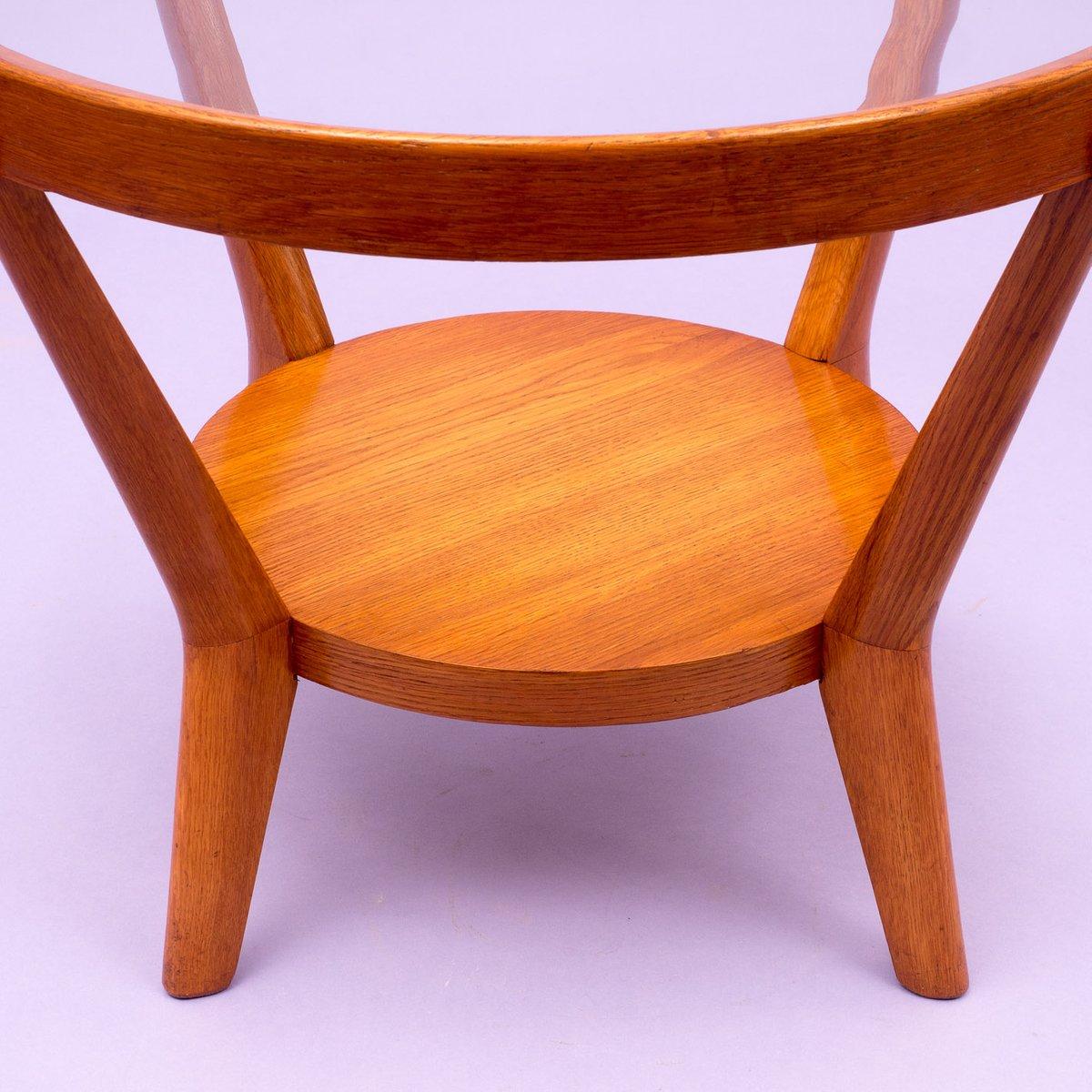 heller eichenholz couchtisch von kozelka kropacek 1940er bei pamono kaufen. Black Bedroom Furniture Sets. Home Design Ideas