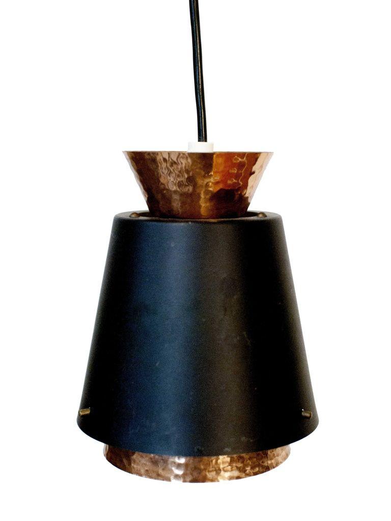 lampe suspension mid century scandinave en cuivre en vente sur pamono. Black Bedroom Furniture Sets. Home Design Ideas