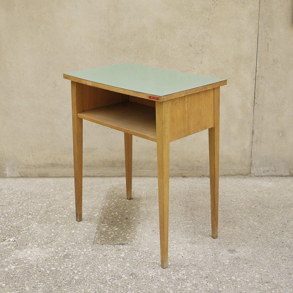Außergewöhnlich Holz Beistelltisch Das Beste Von Vintage Aus Mit Grüner Tischplatte