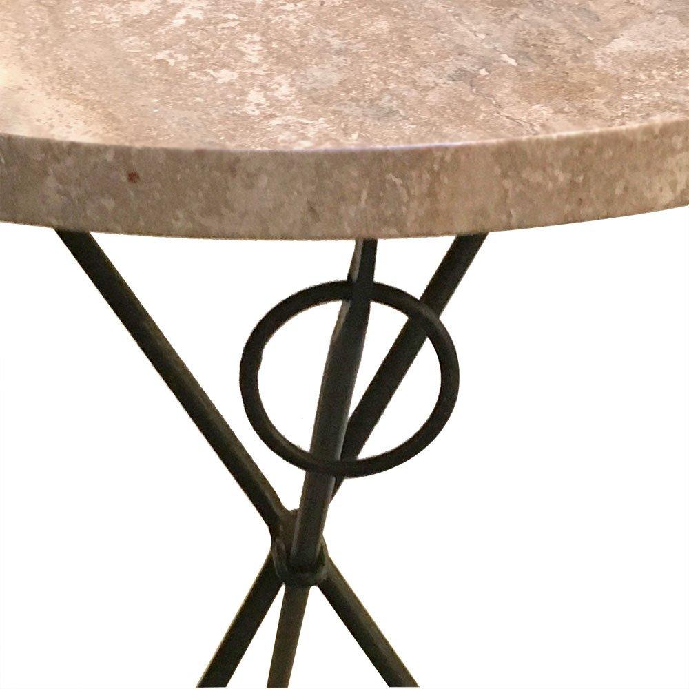 Italienischer vintage dreibein tisch mit marmorplatte for Tisch mit marmorplatte gebraucht