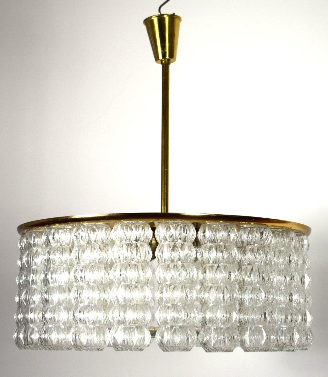 Gro e messing glas deckenlampe 1960er bei pamono kaufen for Deckenlampe messing