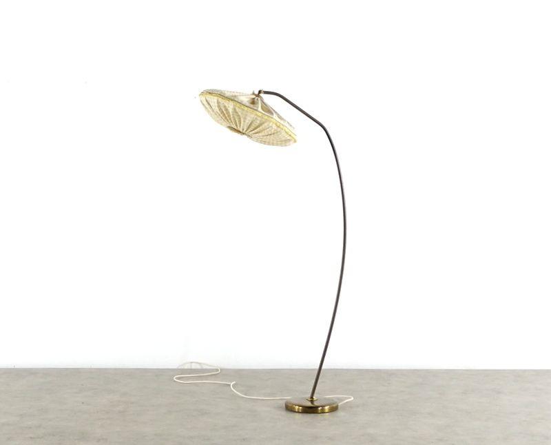 Bogenlampe aus Messing, 1950er