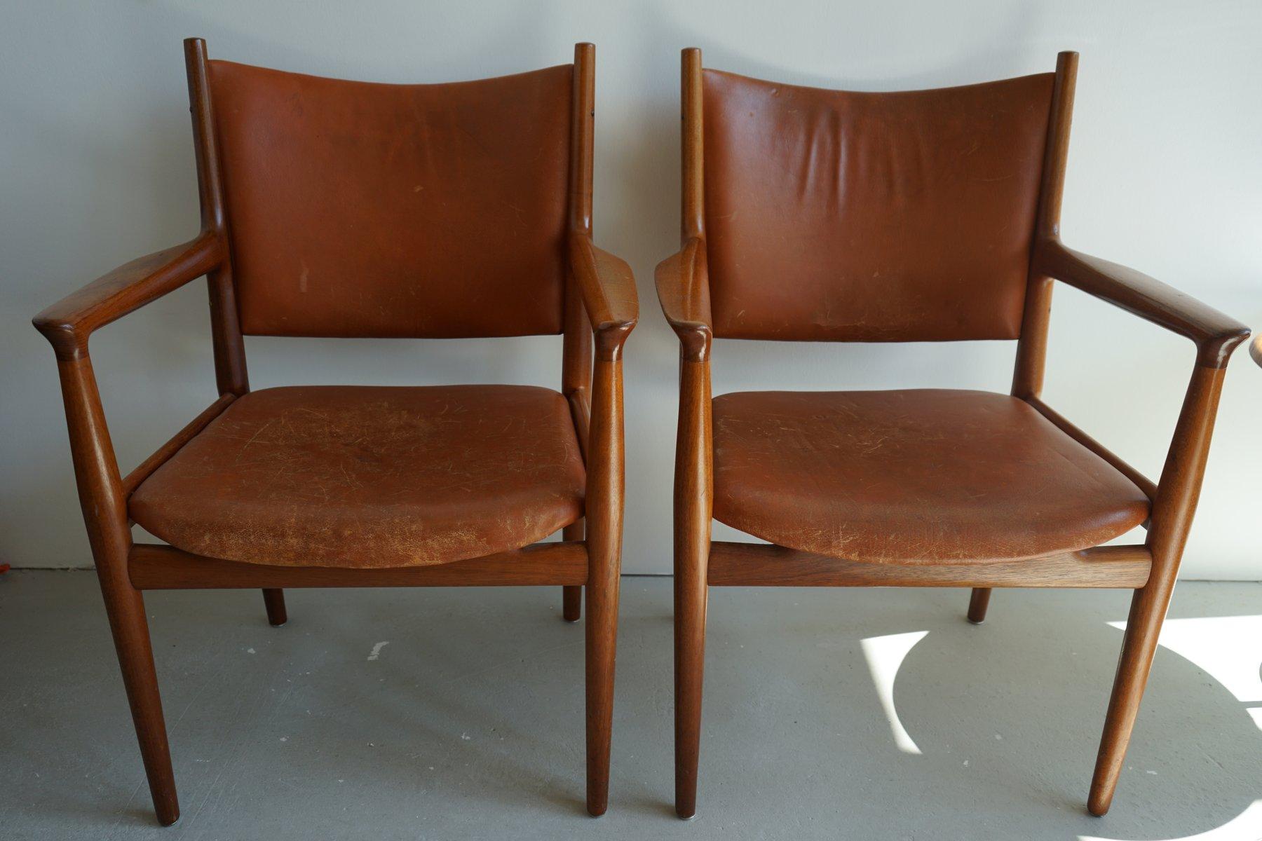 chaise jh 713 mid century par hans wegner pour johannes hansen en vente sur pamono. Black Bedroom Furniture Sets. Home Design Ideas