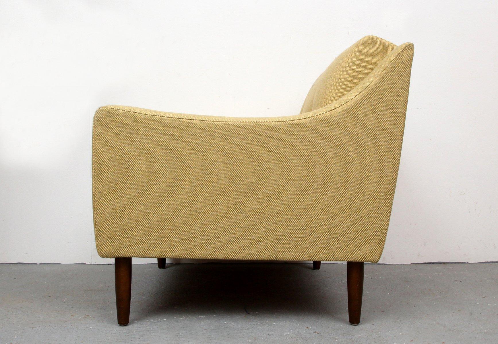 gelber deutscher sessel 1950er bei pamono kaufen. Black Bedroom Furniture Sets. Home Design Ideas