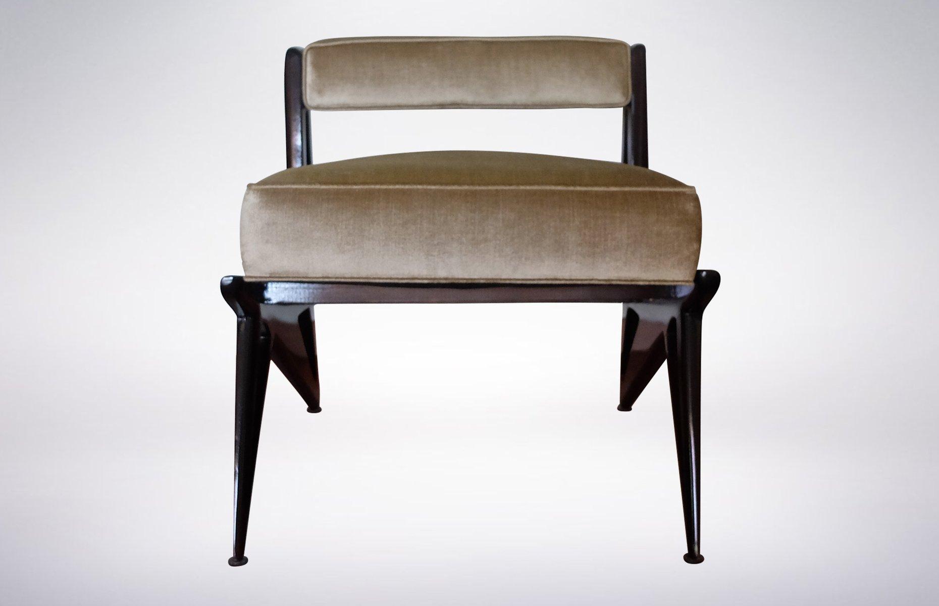 chaise d 39 appoint verte p le en cuir 1950s en vente sur pamono. Black Bedroom Furniture Sets. Home Design Ideas